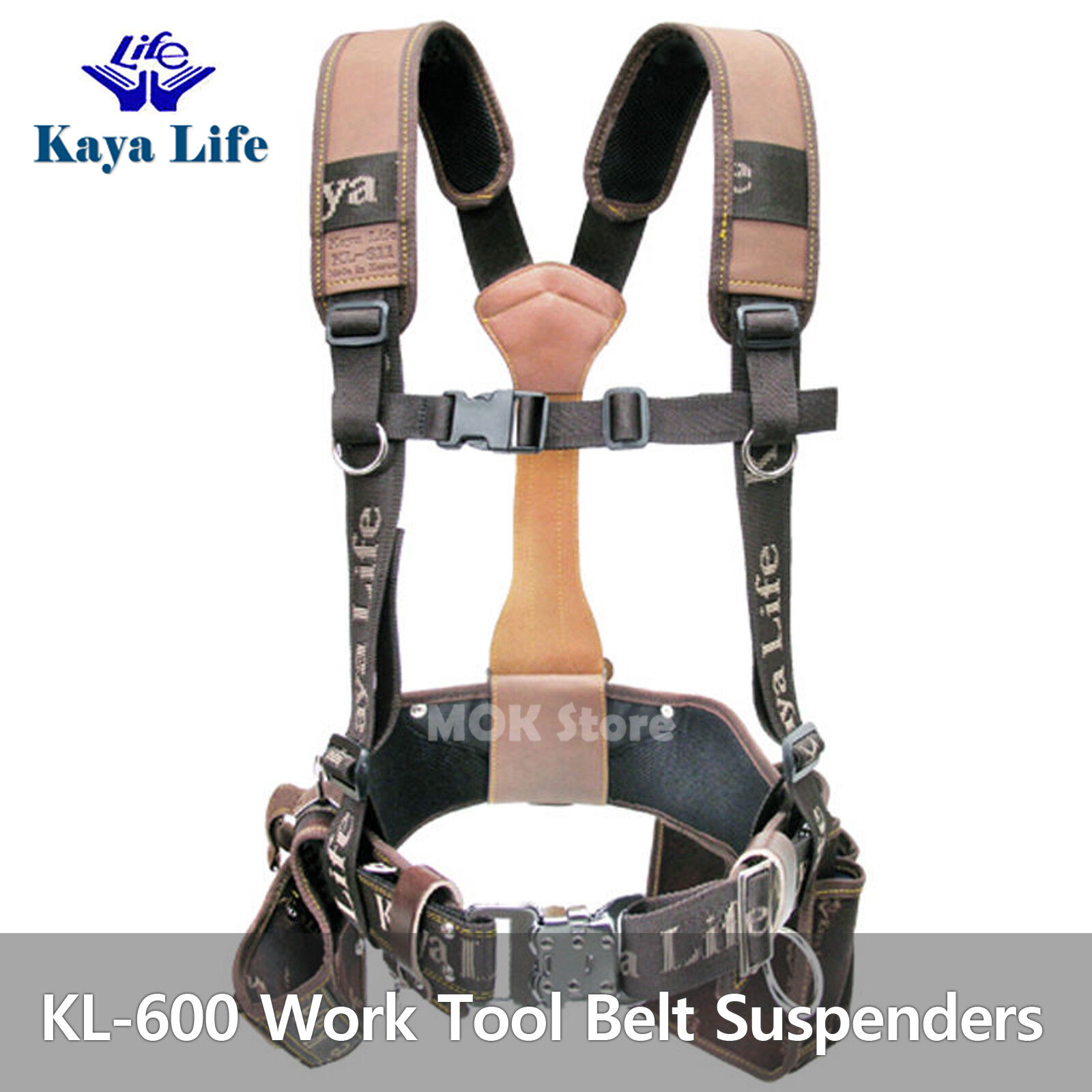 Kayalife Kl 600 Work Tool Belt Set Suspenders Drill Pouch Holder Made In Korea