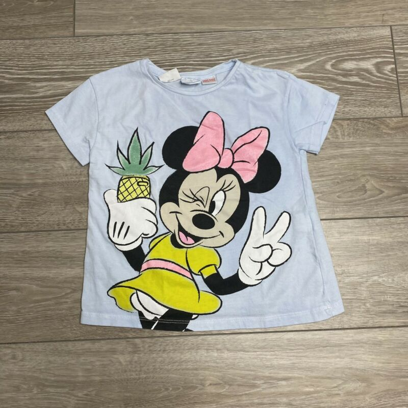 Zara Kids Disney Minnie Mouse Pineapple Tee Shirt Girl