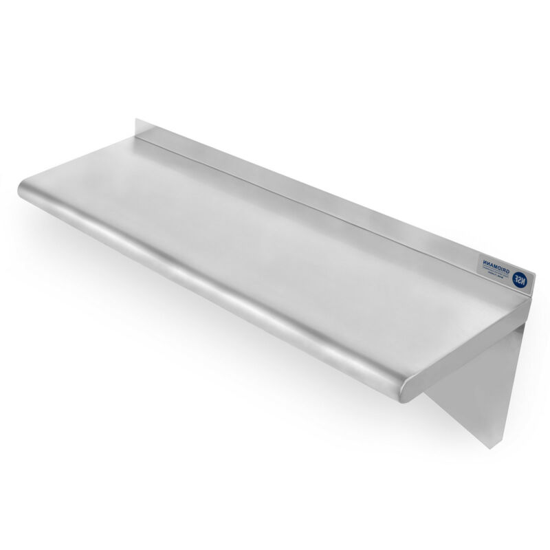 "Commercial Stainless Steel Restaurant Kitchen Shelf Wall Shelving - 14"" x 36"""