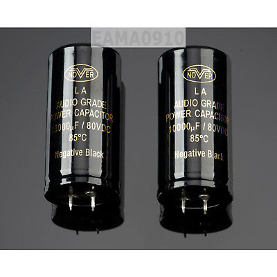 One Pair Nover 10000uf 80v Audio Electrolytic Power Capacitor 35mmx70mm
