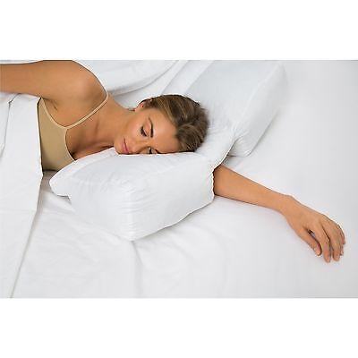 Better Sleep Stomach And Side Sleeper Gel Fiber Pillow Ebay