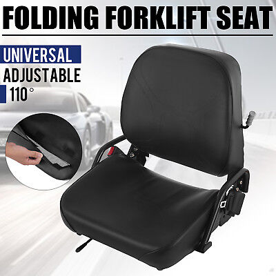 Komatsu Style Folding Forklift Seat Fits Clark Caterpillar Toyot Replacement