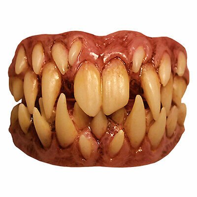 Adult Mens Pennywise IT Killer Clown Halloween Costume Prosthetic Fang Teeth