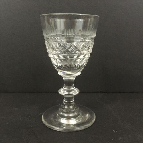 Antique Cut Flint Wine Glass Pittsburgh #1