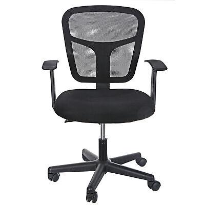 Ergonomic Mesh Office Chair Midback Adjustable Swivel Computer Desk Task Black