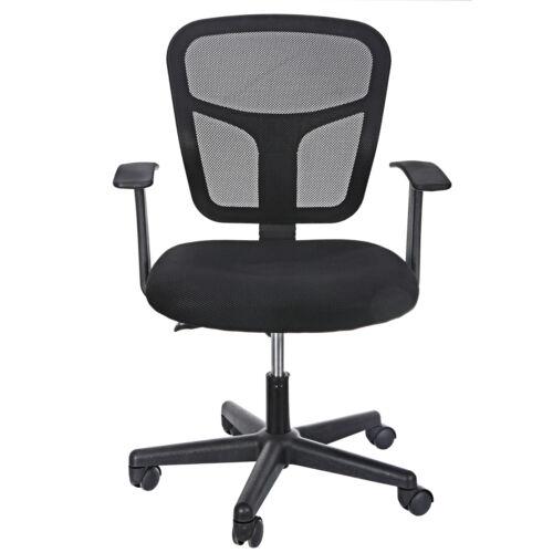 Black Ergonomic Executive Mesh Chair Swivel Mid Back Office Chair Computer Desk  1