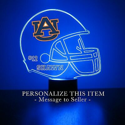 Auburn University Tigers College Football Personalized FREE LED Night Light Lamp Auburn Tigers Led