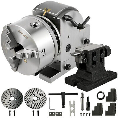 Dividing Head Bs-1 6 3 Jaw Chuck Tailstock For Cnc Milling Machine Precision