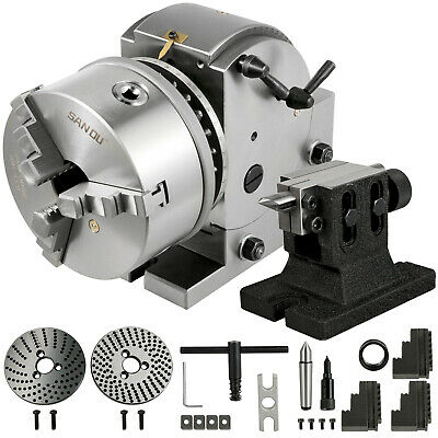 Indexing Dividing Head Bs-1 6 3 Jaw Chuck Tailstock For Cnc Milling Machine