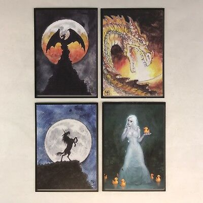 AGE OF SORCERY (Cult-Stuff) Complete CASE TOPPER GLOW-IN-THE-DARK Chase Card Set ()