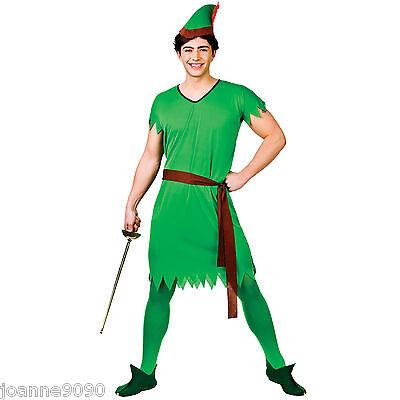 Herren Robin Hood Weihnachten Pantomime Elfen Peter Pan verloren Jungen (Herren Elfen Kostüm)