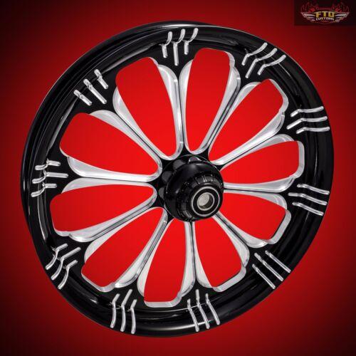 "Harley Davidson 30 Inch Black Contrast Front Wheel ""warlock"""