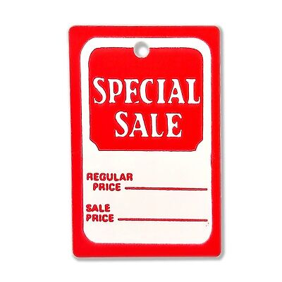 1000 All Purpose Small Red White Special Sale Unstrung Coupon Merchandise Tags