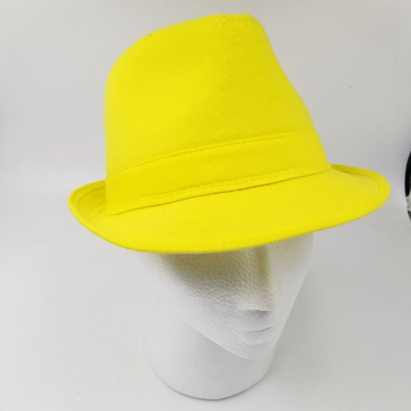 Balera Childrens Dancewear Yellow Fabric Tap Jazz Hat Pageant Competition