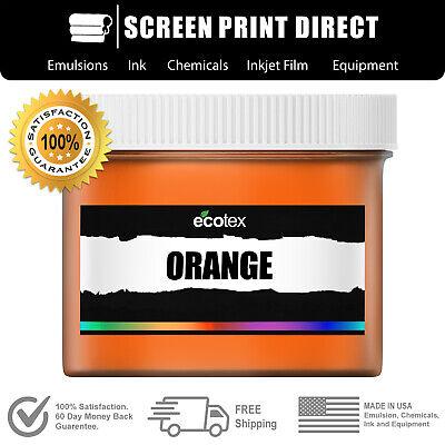 Ecotex Orange - Premium Plastisol Ink For Screen Printing - 1 Pt.- 16oz