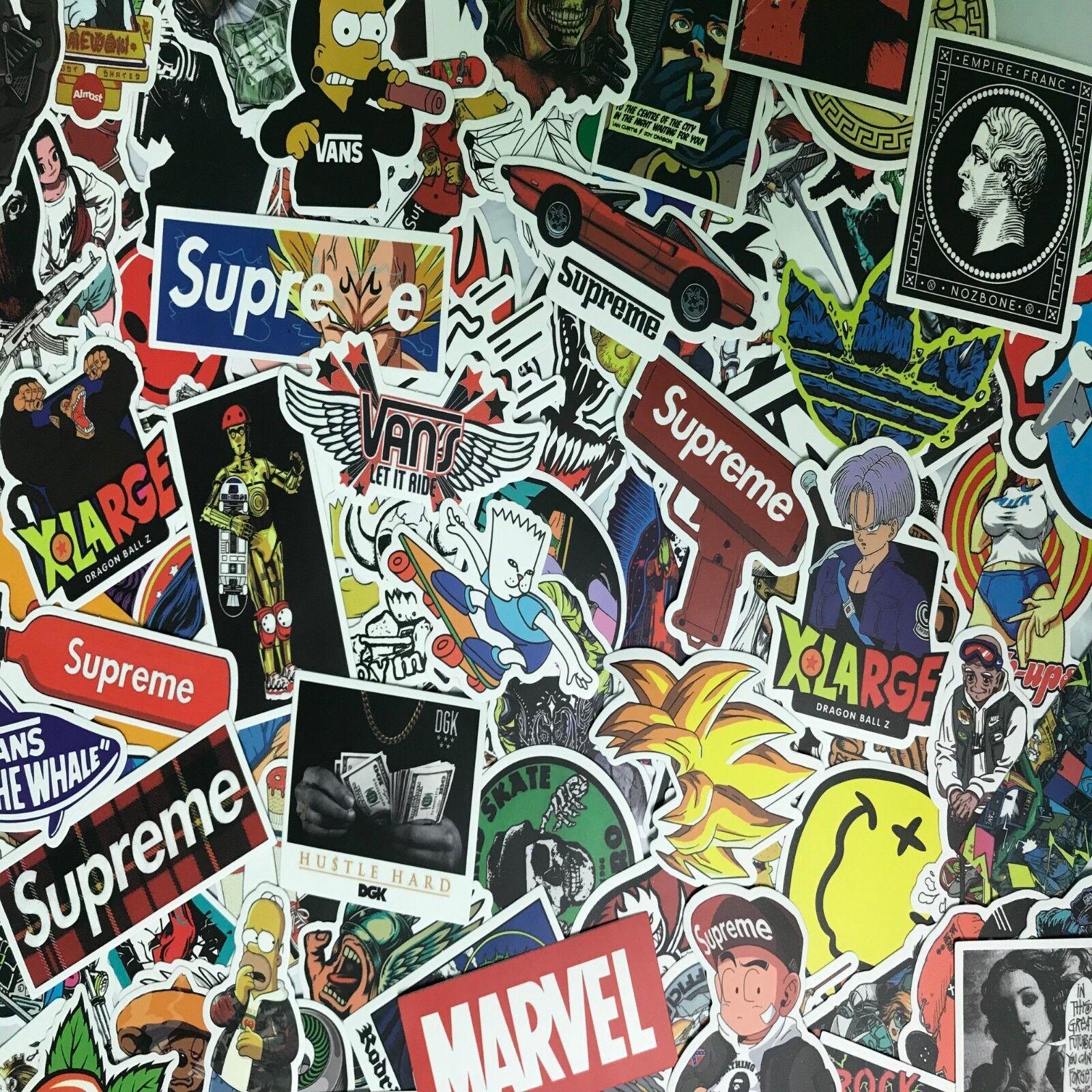 300 Random Skateboard Stickers Vinyl Laptop Luggage Decals D