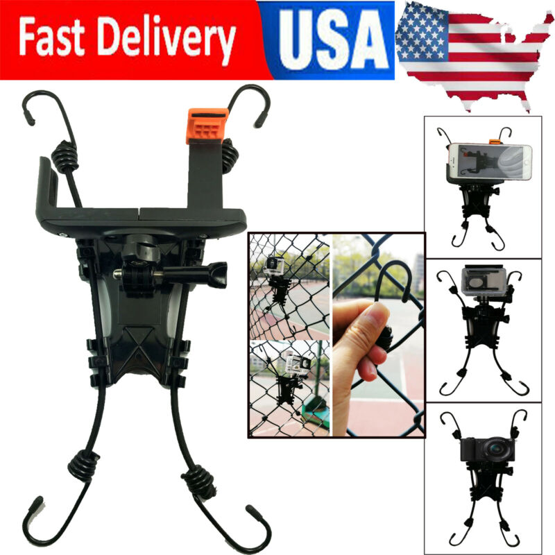 for Gopro Action Camera / Smartphone Backstop Chain Link Fence Mount Accessories