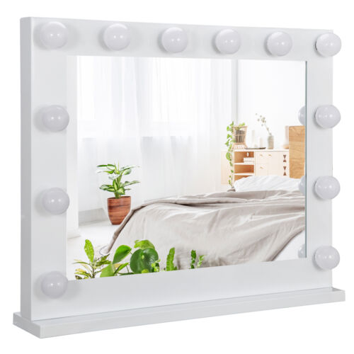 White Hollywood Makeup Vanity Mirror with Light Stage Large Beauty Mirror Dimmer Health & Beauty