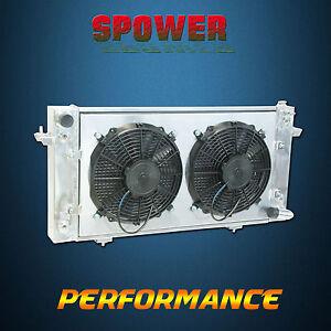 Aluminum Radiator + Fan Shroud For Landrover Discovery I Range Rover V8 Petrol