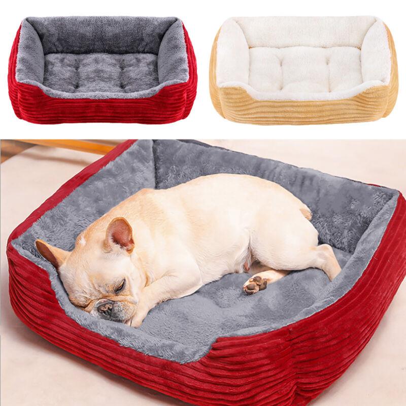 Pet Dog Puppy Bed Soft Fleece Warm Kennel Cat House Cotton Mat Blanket S M  L XL