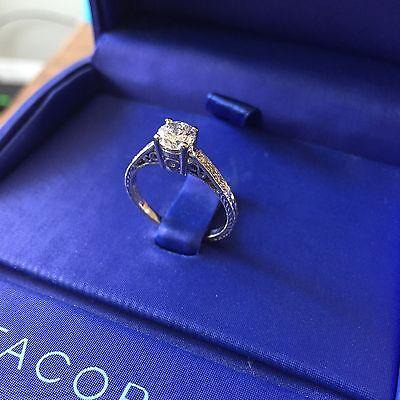 Tacori 18k White Gold Diamond Engagement Ring, Size 7