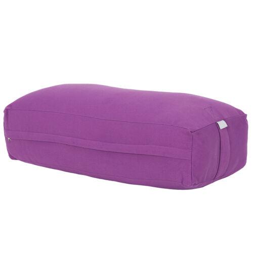Heavy Duty Yoga Supportive Rectangular Yoga Meditation Bolster Pillow Zafu