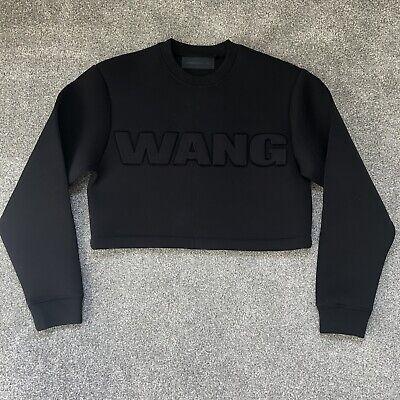 Alexander Wang H&M Neoprene Scuba Style Long Sleeve Crop Jumper Sweatshirt XS