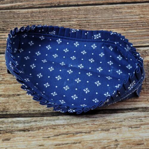 Longaberger Cracker Basket Liner Classic Blue