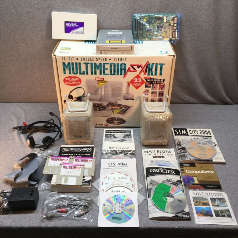 Vintage Reveal 16-Bit Computer Multimedia FX Kit  *With Software And Games!*