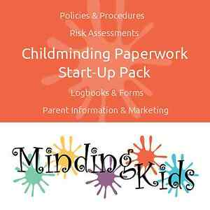 Childminding Paperwork Start Up Pack - polices, risk assessments, logbooks & ...