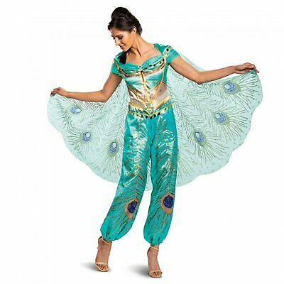 Adult Womens Disney Aladdin Princess Jasmine Halloween Costume Jumpsuit S M L