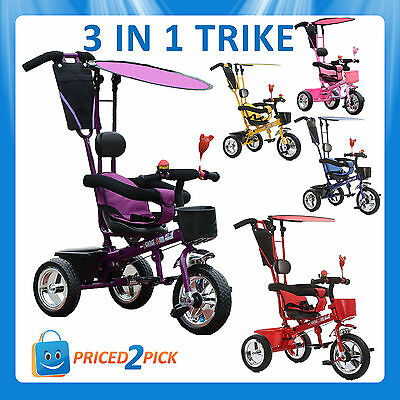 Toddler Trike With Handle Oztrale