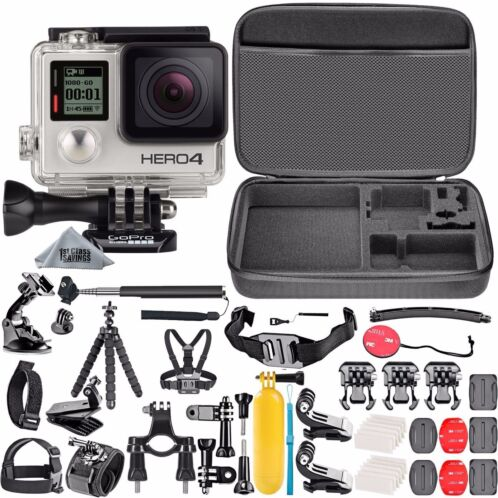 -   84 - GoPro HERO4 Silver Edition +50 Piece Hero 4 Accessory Kit Camera Camcorder