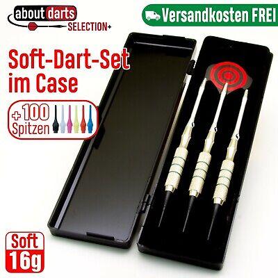 Turnier Dartpfeile im Case +100 Spitzen |16g Softdart | Dart Pfeile E-Darts