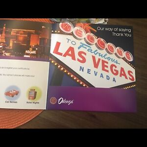 Air fare and accomodation voucher to Las Vegas