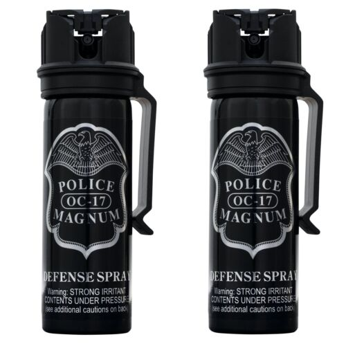 Police Magnum 2PCK 3oz Stream pepper spray FlipTop Belt Clip Security Protection