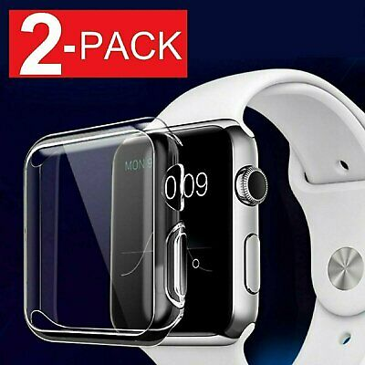 2 Pack Soft Ultra Thin Clear Protective Case Cover For Apple Watch Series 5 Cases, Covers & Skins