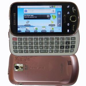 New Samsung Intercept M910 - Pink (Sprint) Smartphone Android QWERTY Slider