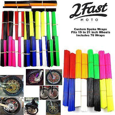 2Fastmoto Spoke Wrap Kit Skins Covers Custom Motocross Dirtbike Motocross Honda