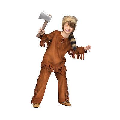 Kids Frontier Davy Crockett Historical Pioneer Halloween Costume + Raccoon - Davy Crockett Halloween Costume