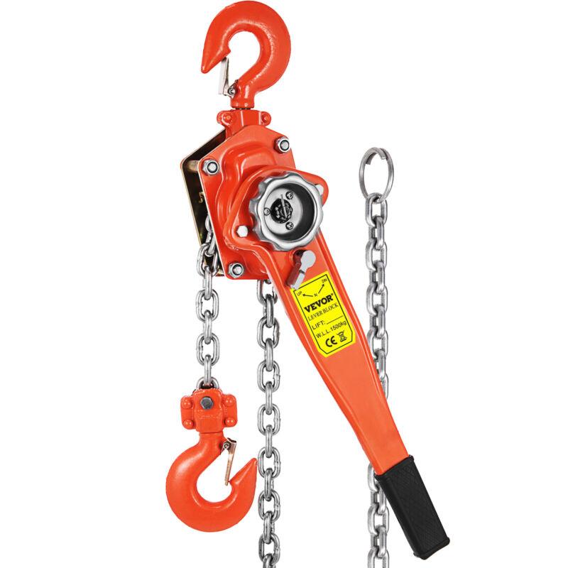 1.5Ton Lever Block Chain Hoist Ratchet Type Come Along Puller 10FT Lifter 3300LB
