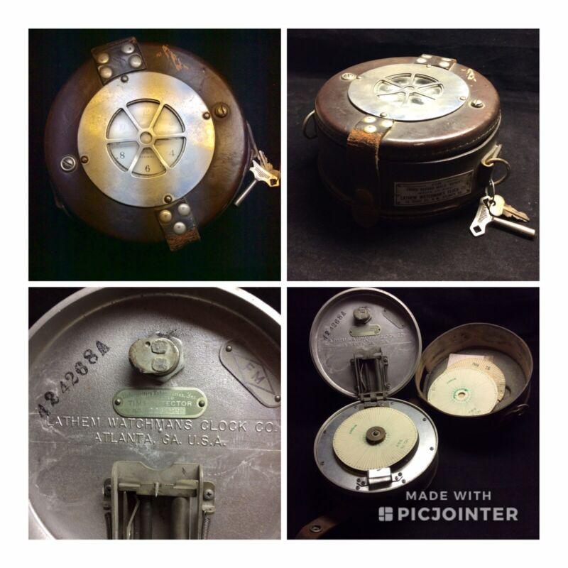 Vintage LATHAM Watchmans Clock- c. 1940s