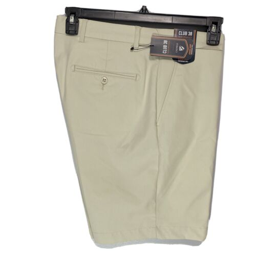 Cremieux Mens Performance Atwood Khaki Shorts 40 Flat Front Golf Stretch Stone Clothing, Shoes & Accessories