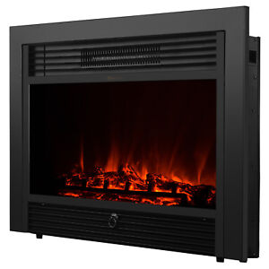 Embedded 28 5 Electric Fireplace Insert Heater Log Flame With Remote Control