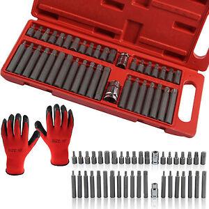 40 piece Torx Star Spline Hex Socket Bit Set Tool Kit Garage Tools Equipment