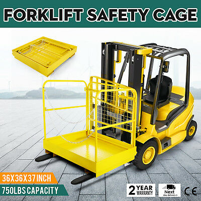 Forklift Safety 36x36 Cage Work Platform Basket Aerial Fence Rails Lift