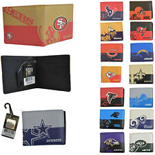 NWT NFL Pick Your Teams Men Women Synthetic Leather Bi-Fold Wallet - Licensed