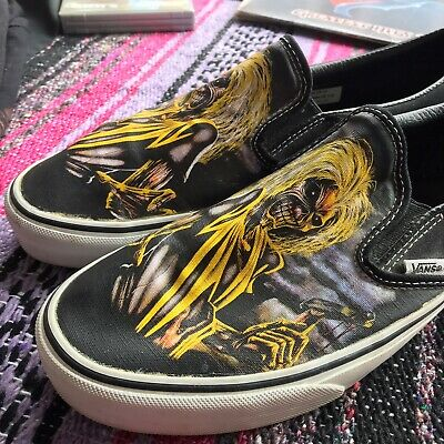 VANS  Iron Maiden Killers Slip On Shoes Men's Size 10