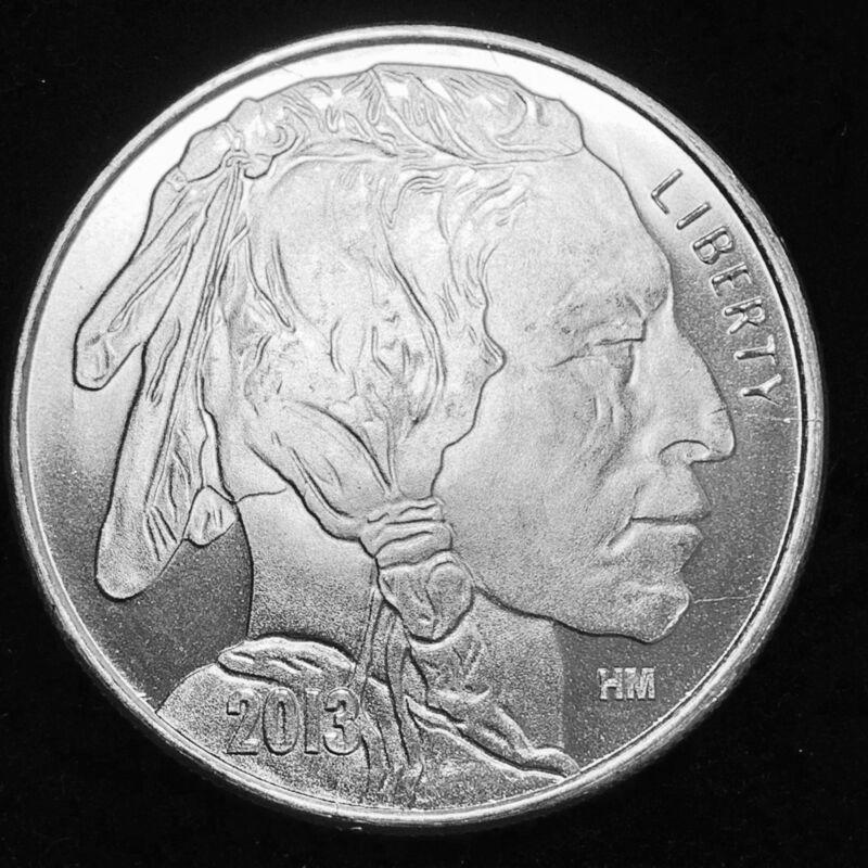 Liberty Indian Head Buffalo 2013 Usa Silver 1 Troy Oz 999