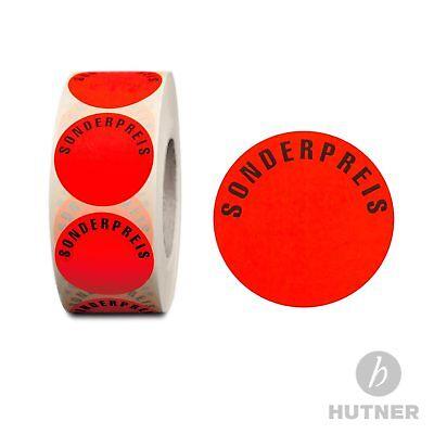 Aktionsetiketten Sonderpreis ablösbar 32mm Aufkleber Rolle Etiketten rund l-rot
